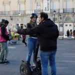 étudiants, Ascencia, Segway, Madrid